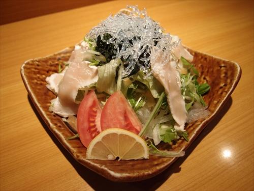 京都丹波黒地鶏かずき7地鶏たたきサラダ
